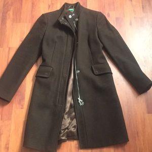 United colours of Benneton dark brown wool coat